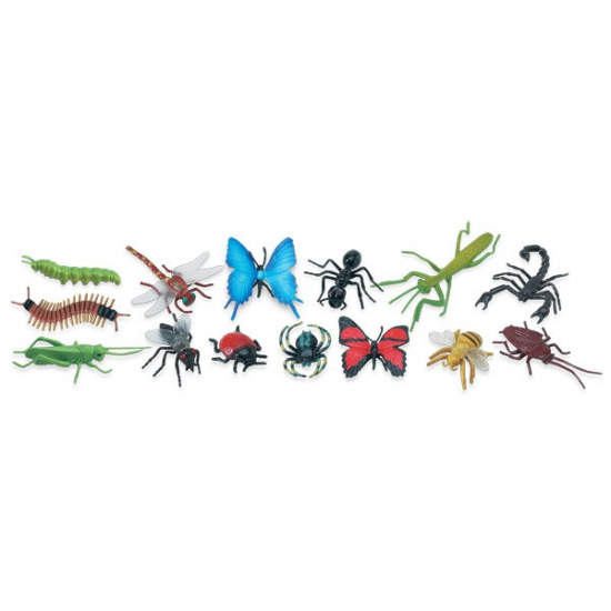 Plastic speelgoed insecten 14 stuks
