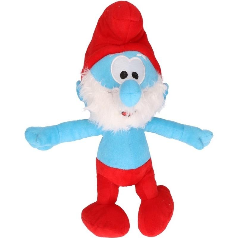 Pluche Grote Smurf Smurfen knuffel pop 38 cm speelgoed