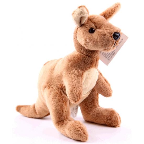 Pluche kangoeroe knuffel 19 cm