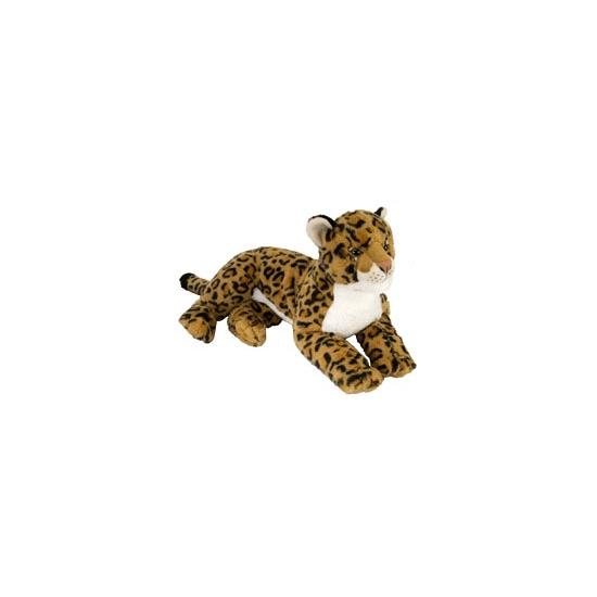Pluche liggende luipaard 40 cm