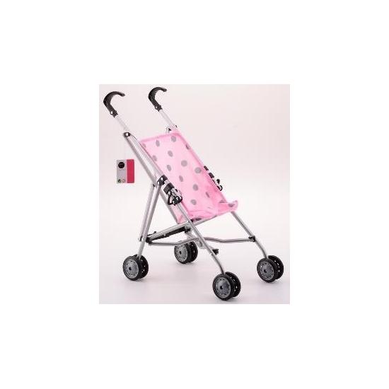 Poppen buggy roze