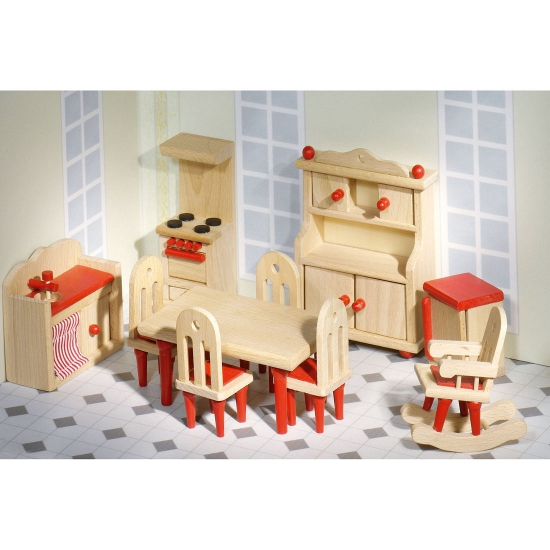 Poppenhuis meubels houten keuken