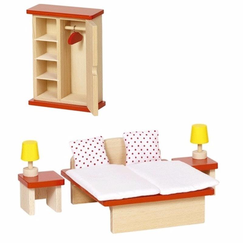 Poppenhuismeubeltjes slaapkamer