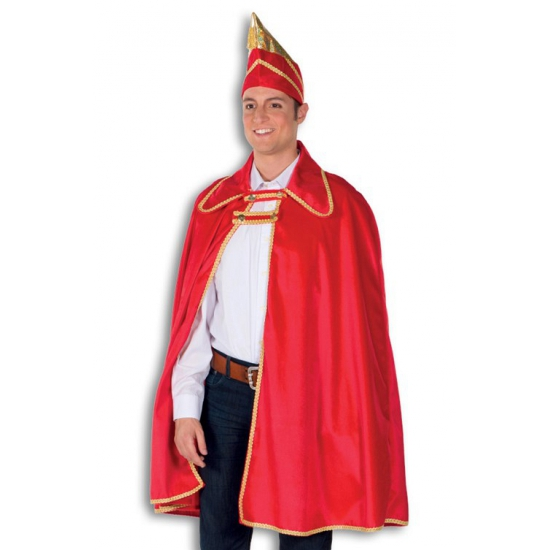 Prins carnaval kostuum. dit prins carnaval kostuum bestaat uit een een mooi rode lange cape met gouden ...