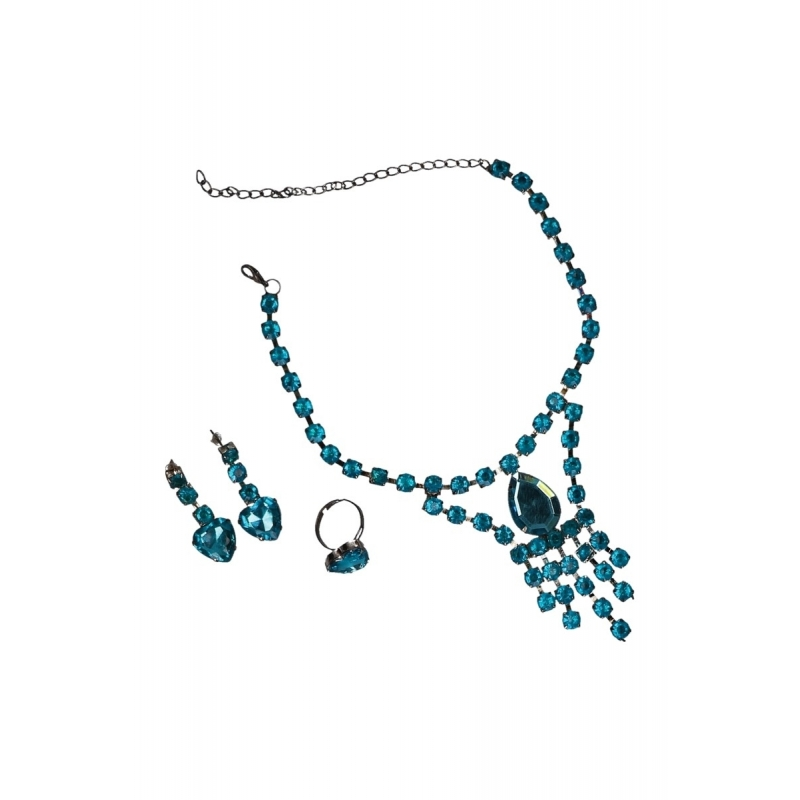 Prinsessen sieradensetje turquoise