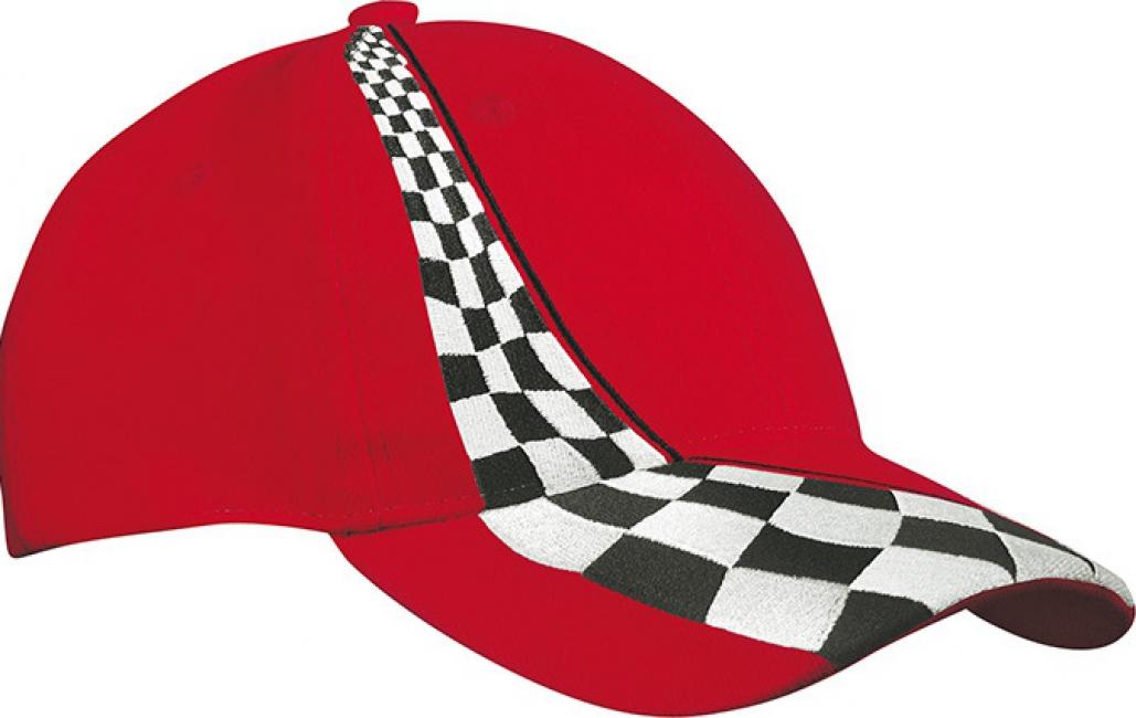 Racing baseballcap rood