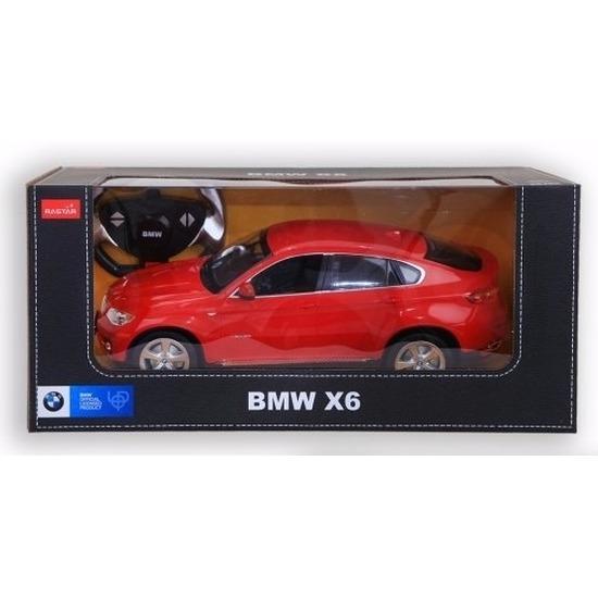 Radiografisch bestuurbare rode BMW X6 auto 1:14