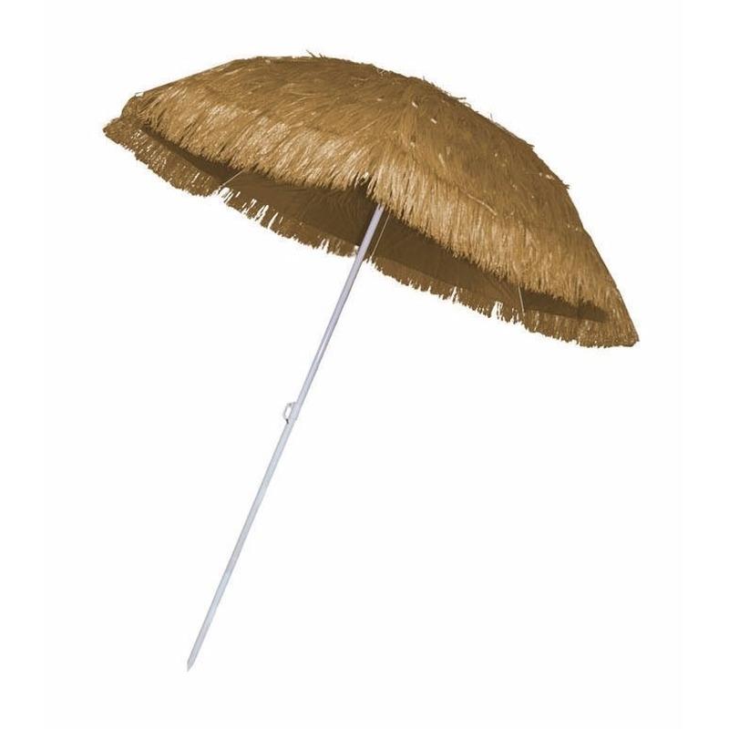 Rieten strand parasol beige