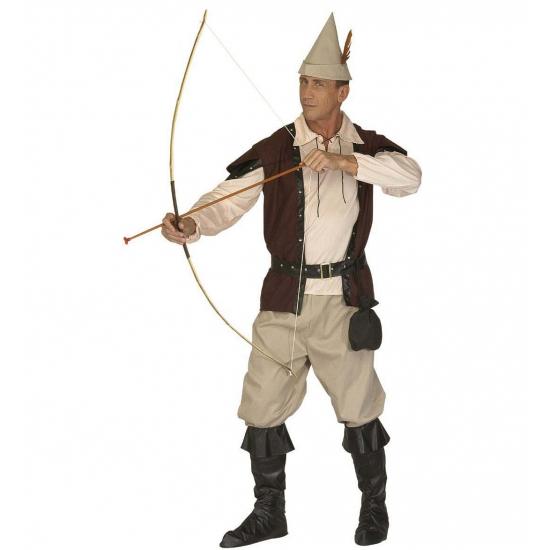 Een compleet robin hood kostuum voor volwassenen. stoer robin hood kostuum bestaande uit het hoedje, de ...