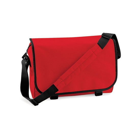 Rode messenger aktetas met schouderband