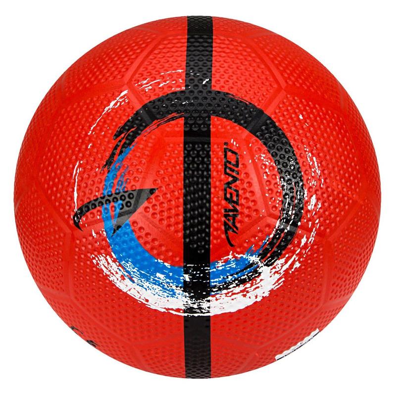 Rode speelgoed voetbal 21 cm-maat 5 voor kinderen-volwassenen