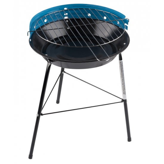 Ronde houtskool barbecue-bbq grill blauw
