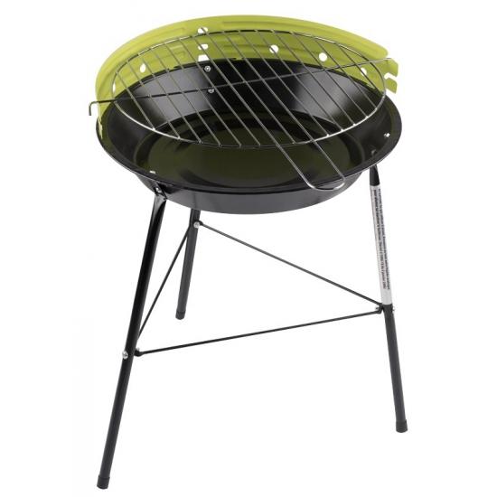 Ronde houtskool barbecue-bbq grill groen