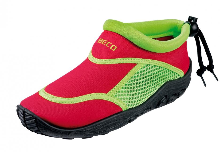 Rood groene neopreen surf en waterschoen voor kinderen