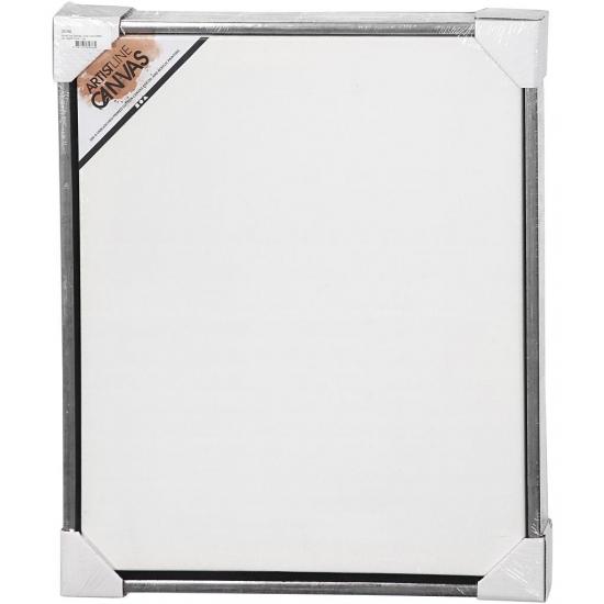 Schildersdoek met lijst zilver 50 x 60