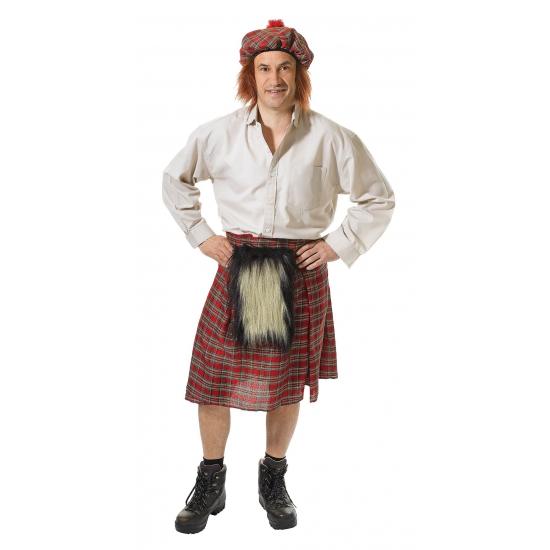 Schots kostuum voor heren. dit schotse heren kostuum bestaat uit een schotse kilt en hoed. de kilt is one ...