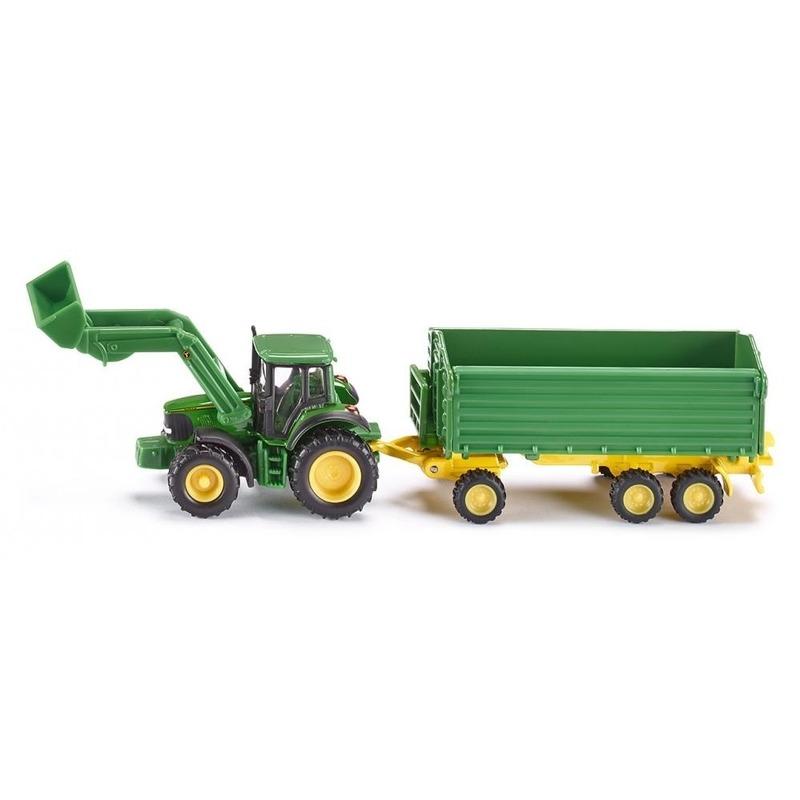 Siku John Deere tractor inclusief aanhanger