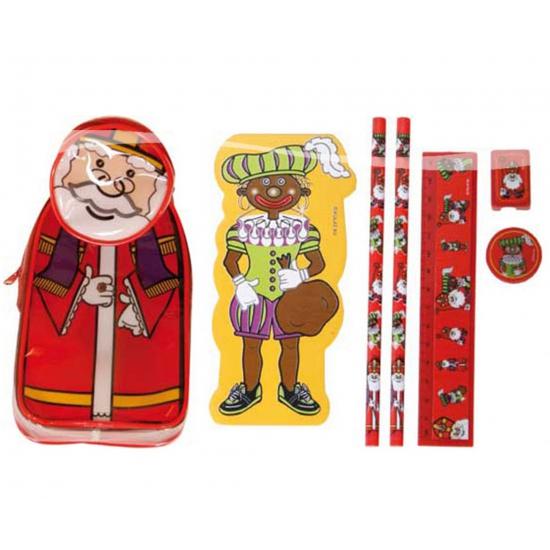 Sinterklaas etui met schrijfwaren