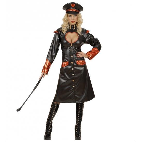 Sm meesteres kostuum. sexy sm meesteressen kostuum bestaat uit een lange zwart met rode jas met knopen en een ...