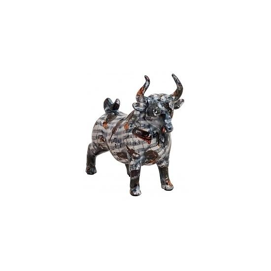 Spaarpot zwarte stier met muzieknoten