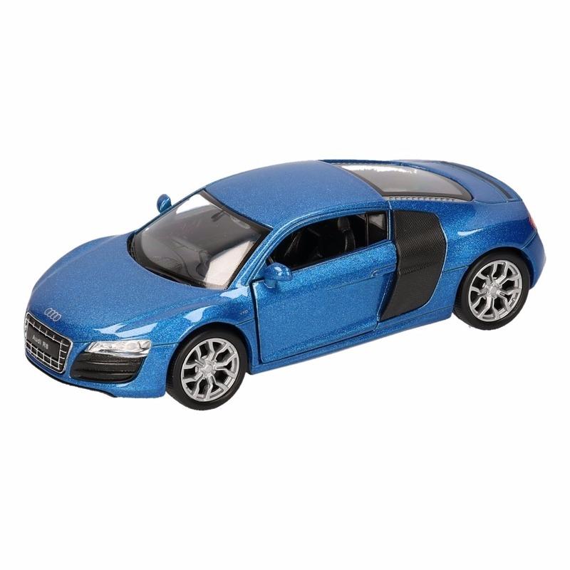 Speelgoed blauwe Audi R8 auto 1:36
