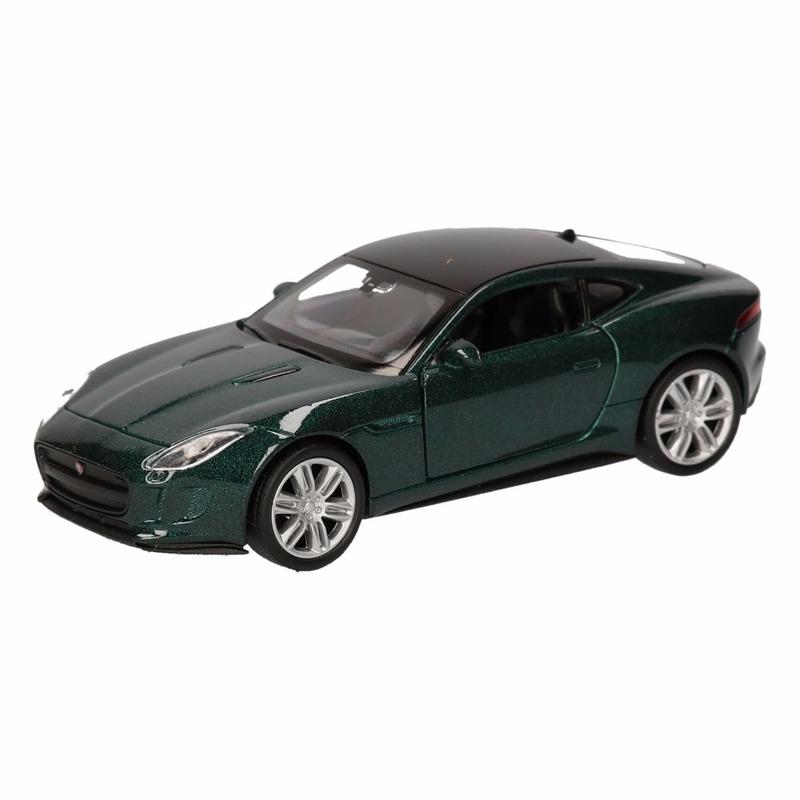 Speelgoed donkergroene Jaguar F-Type coupe auto 12 cm