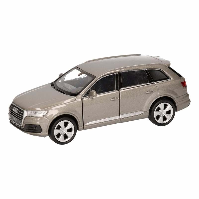 Speelgoed grijze Audi Q7 auto 12 cm