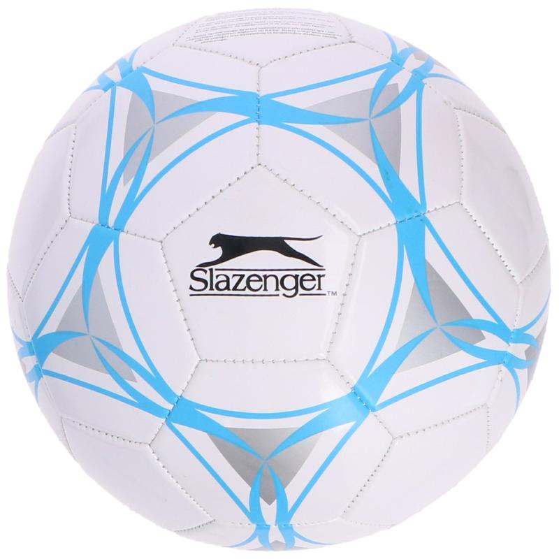 Speelgoed voetbal wit-blauw 21 cm voor kinderen-volwassenen