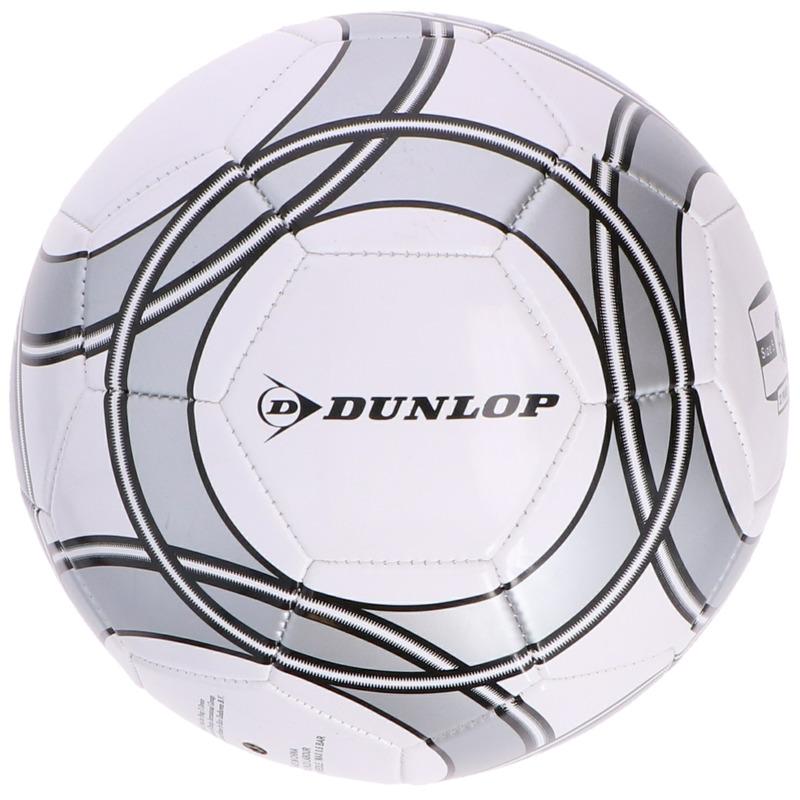 Speelgoed voetbal wit-grijs 21 cm voor kinderen-volwassenen