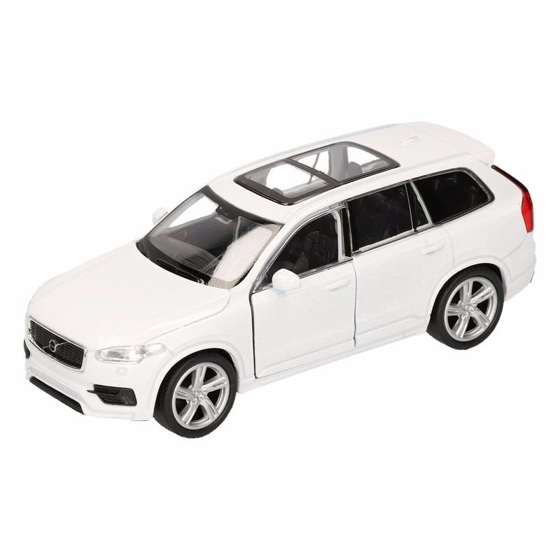 Speelgoed witte Volvo XC 90 2015 auto 16 cm