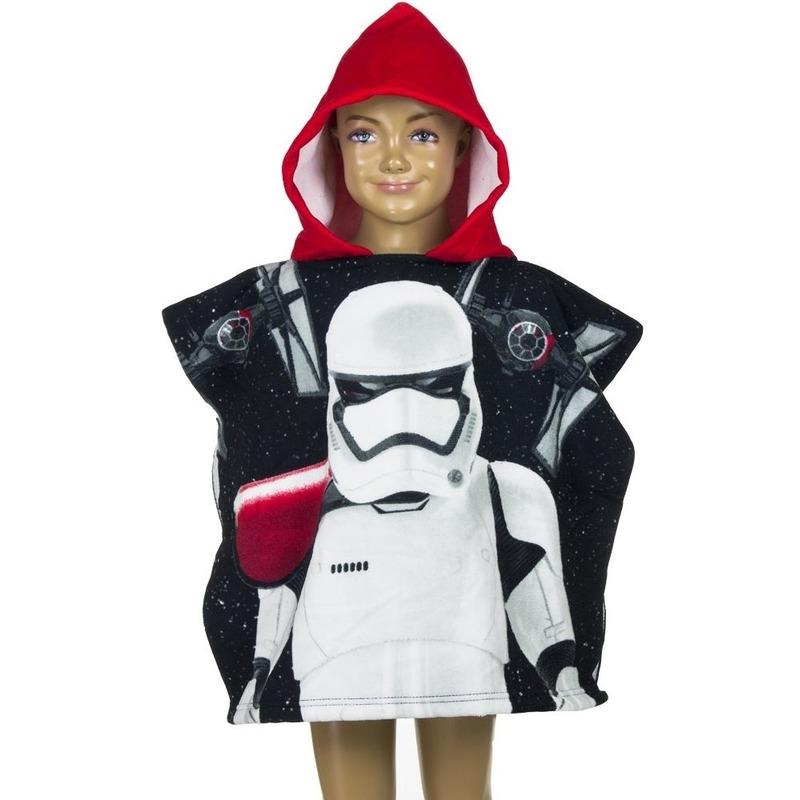 Star Wars Stormtrooper badcape zwart rood voor kinderen