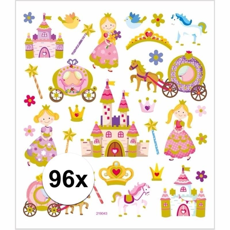 Stickervel prinsessen 96 stuks