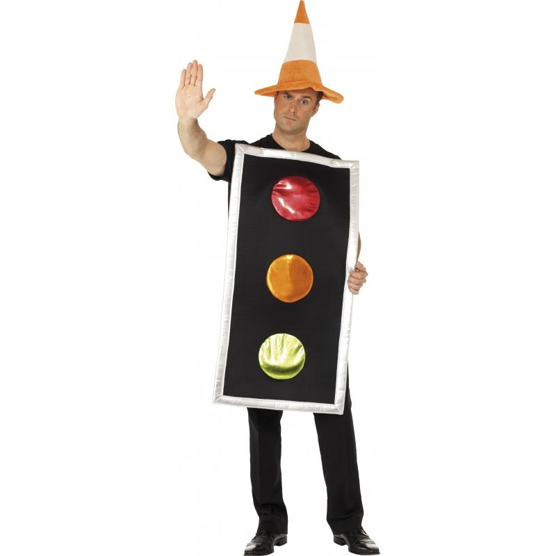 Stoplicht kostuum met verkeerspion hoed voor volwassenen. dit stoplicht kostuum met verkeerspion hoed is ...