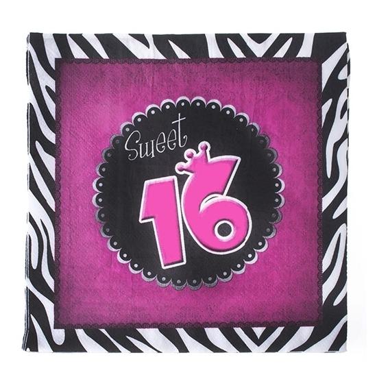 Sweet 16 servetten 20 stuks