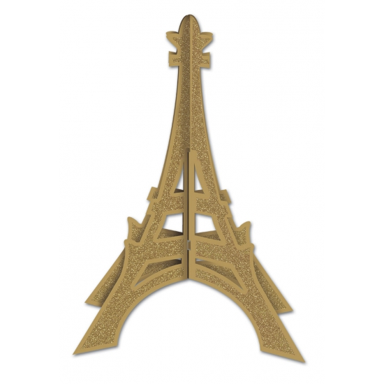 Tafeldecoratie eiffeltoren 30 cm. gouden glitter eiffeltoren om als decoratie neer te zetten. deze ...