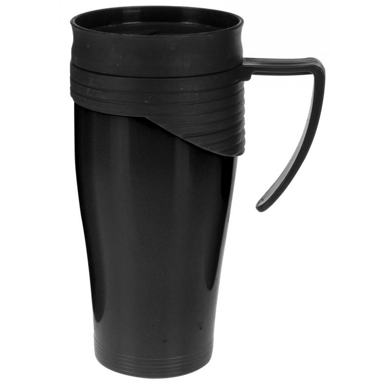 Thermosbeker-warm houd beker zwart 420 ml