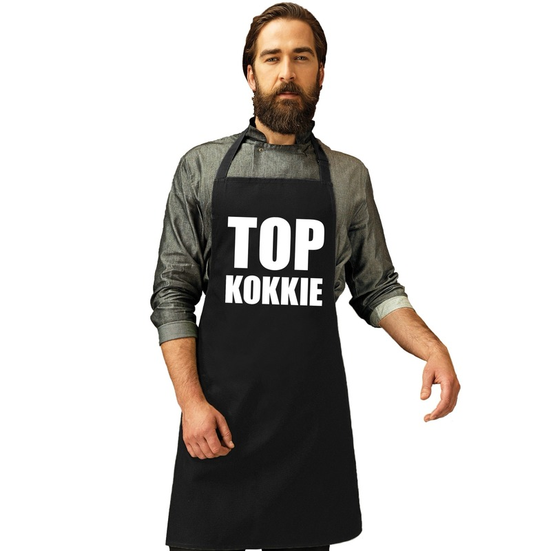Top kokkie keukenschort zwart heren