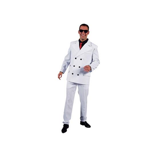 Toppers Wit heren gangster kostuum