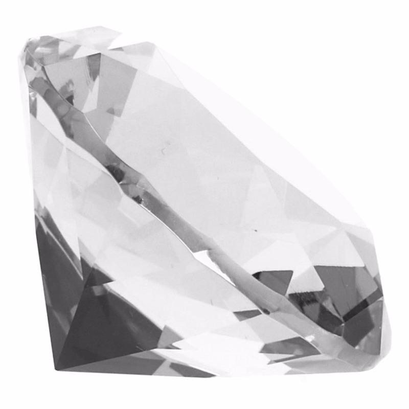Transparante nep diamant 4 cm van glas