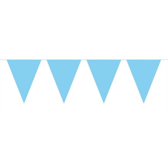 Vlaggenlijn XL licht blauw 10 meter