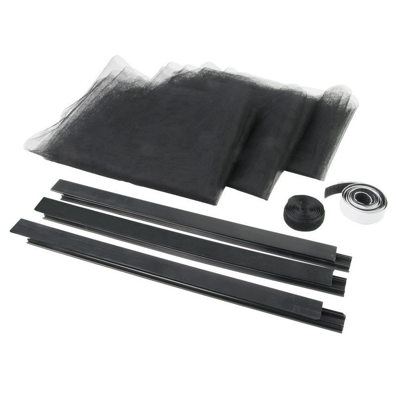 Vliegengordijn-deurgordijn zwarte hor 95 x 221 cm