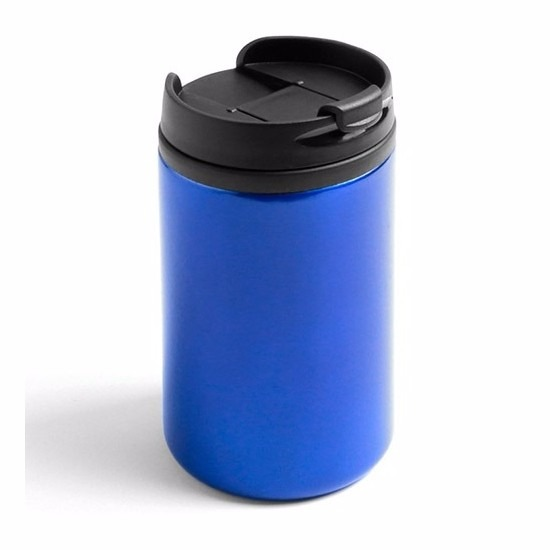Warmhoudbeker-warm houd beker metallic blauw 320 ml