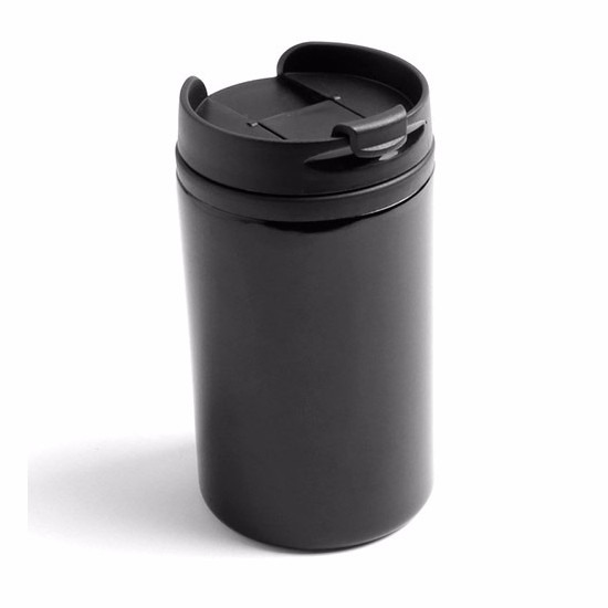 Warmhoudbeker-warm houd beker metallic zwart 320 ml