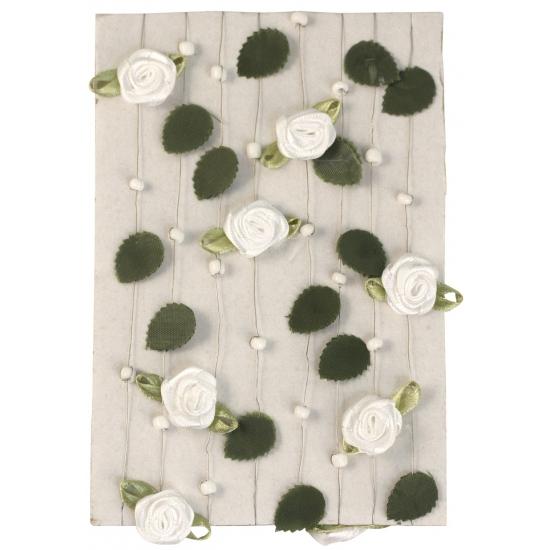 Witte rozen slinger 2 meter