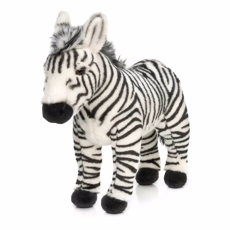 WNF pluche staande zebra knuffel 23 cm