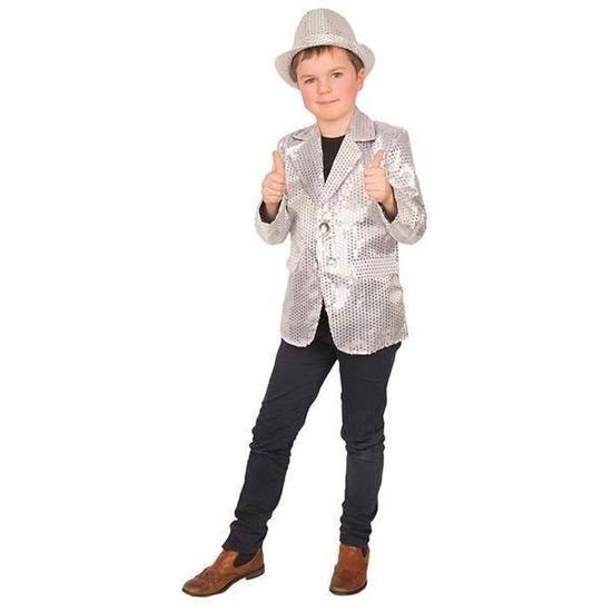 Zilver glitter verkleed jasje voor kinderen