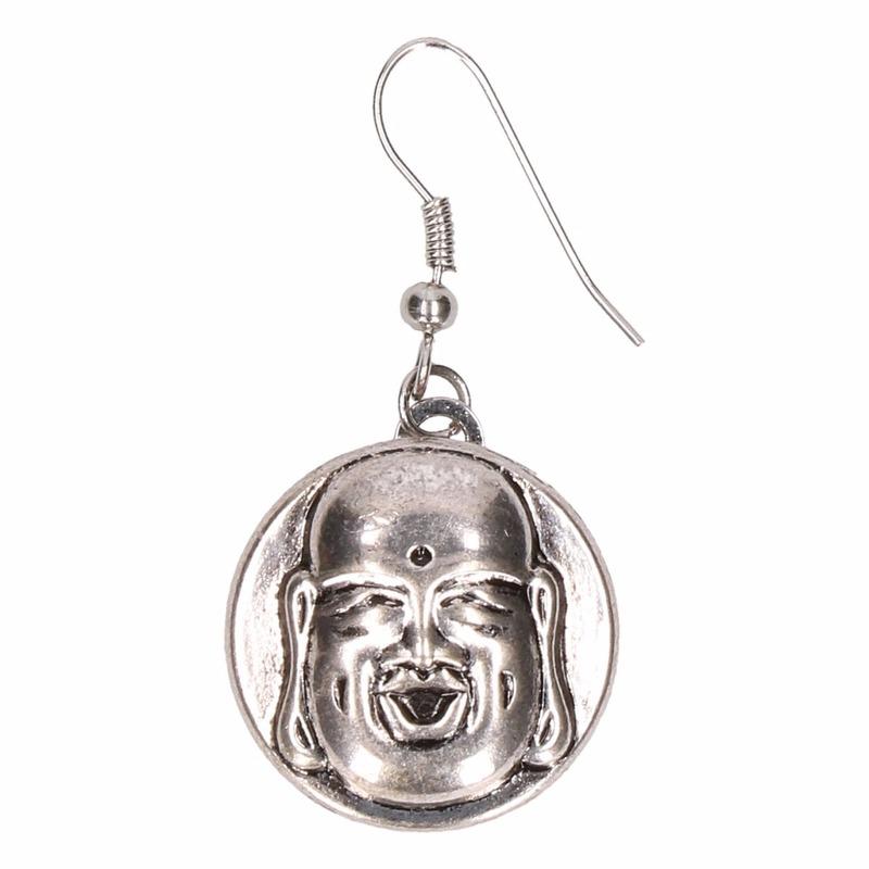 Zilveren boeddha oorbellen voor volwassenen