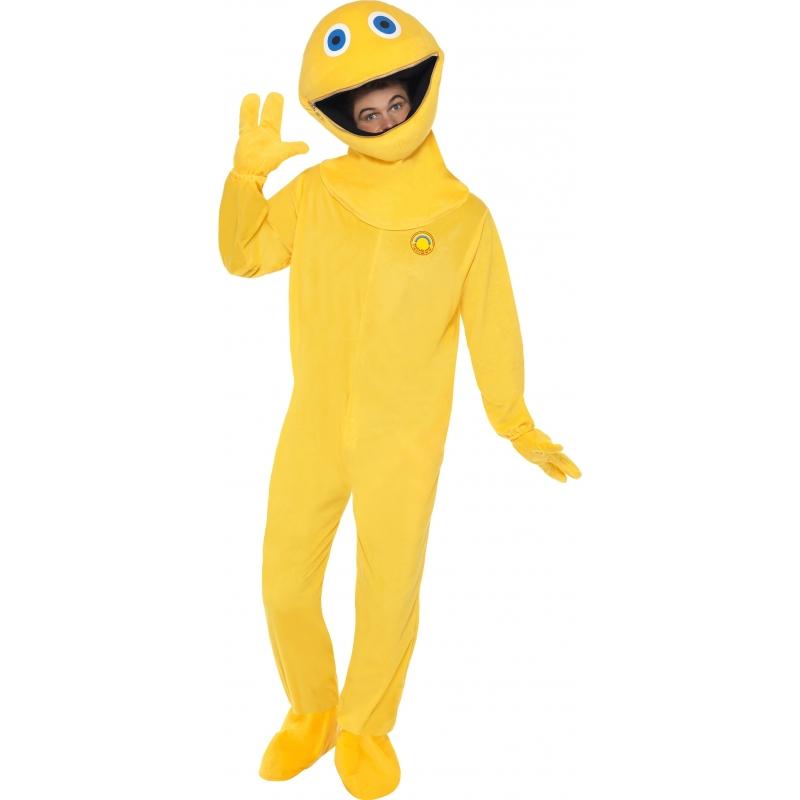 Zippy rainbow kostuum voor volwassenen. zippy is bekend van de britse tv serie rainbow. dit vrolijke gele ...