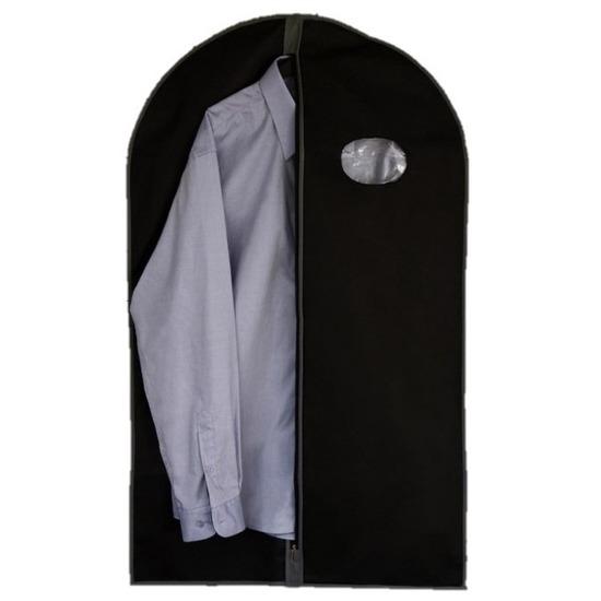 Zwarte kledinghoes met rits 100 cm