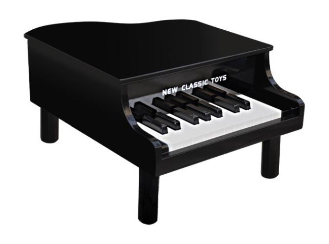Zwarte speelgoed piano 42 x 33 x 23 cm